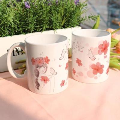 ce159-디자인머그컵2p-벚꽃과소녀