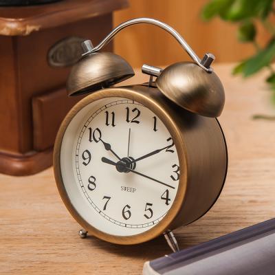 오리엔트 무소음 OT1571 브론즈 알람탁상시계