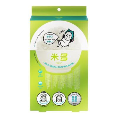 미다 [모공쫀쫀] 쌀 크림 토핑 마스크 5매