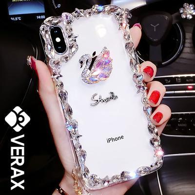 P165 아이폰11프로 스완 다이아몬드 큐빅 젤리 케이스