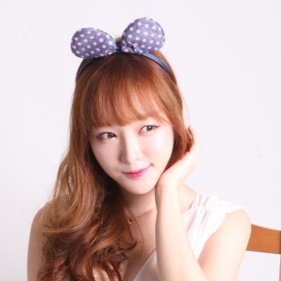 러블리 머리띠(핑크 도트)