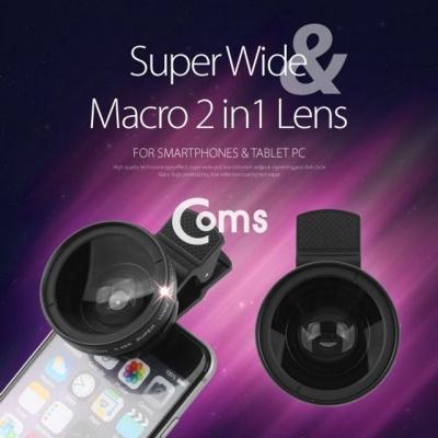 Coms 스마트폰 카메라 확대경(2in1) 37mm 셀카렌즈