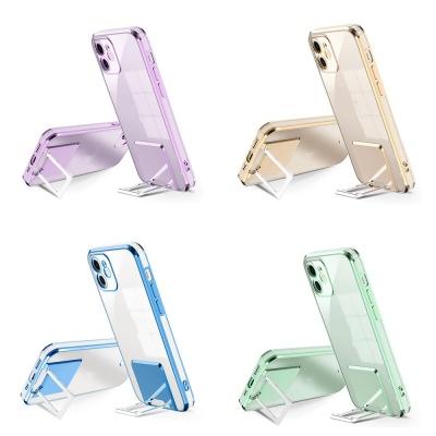 아이폰xr xs max se2 8 컬러 라인 거치대 투명 케이스