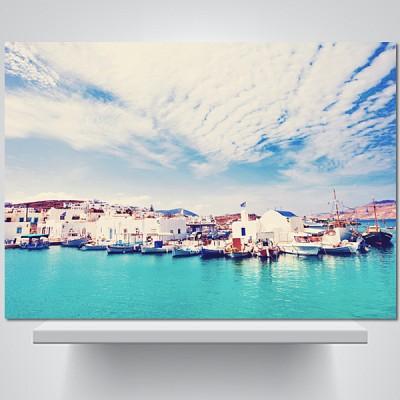 그리스 파로스섬 - 감성사진 폼보드 액자