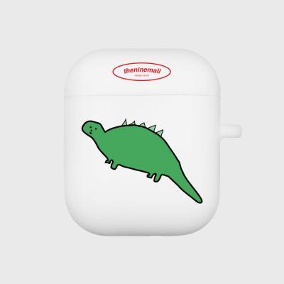 초록공룡 에어팟 케이스[white]