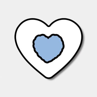 [하트톡♥] skyblue heart fluffy
