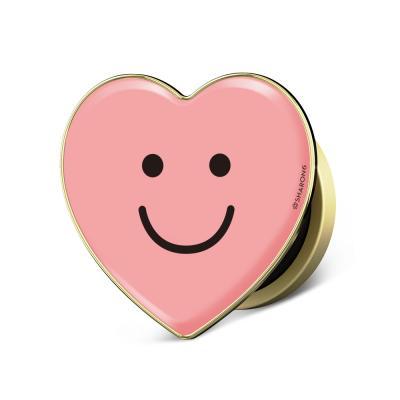 샤론6 하트 그립톡 핑크스마일