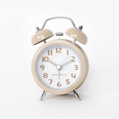 베이직 저소음 크림베이지 자명종 시계