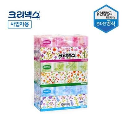 크리넥스 각 티슈 휴지 화장지 미용 티슈 250매x3개
