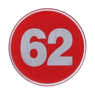 번호판62 에폭시 빨강 1492 지름62 1개입