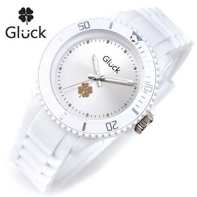 [Gluck]글륵 행운의 시계 GL1307-DTWH 본사정품 남여공용