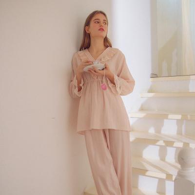 Angel 브이 레이스 면투피스 잠옷 파자마