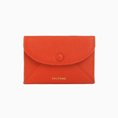 REIMS W019 Envelope Card Wallet Red Orange