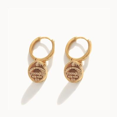 제이로렌 M03445 골드 코인 실버 원터치 귀걸이