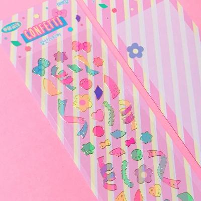투명금테 Confetti 칼선 스티커