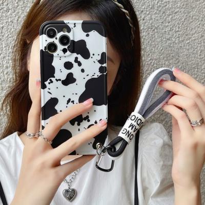 아이폰12 11 pro max xs 8 얼룩 로프 스트랩 폰케이스