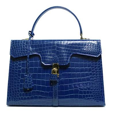 [ACUTIS] 아쿠티스 이태리 악어가죽 명품백 COBALTO BLUE 백화점 A/S 가능
