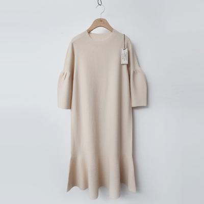 Maille Wool Puff Flare Dress