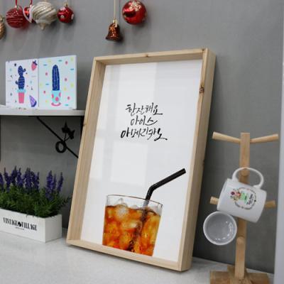 pc589-우드프레임액자_아이스아메리카노(대형)
