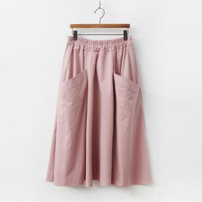 Cotton Pocket Long Skirt