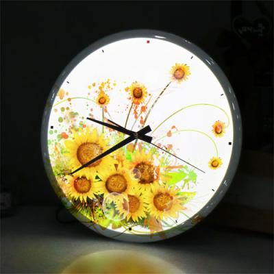 nf726-LED시계액자35R_해바라기수채화
