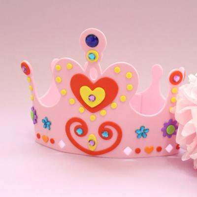 EVA 핑크 왕관 1set