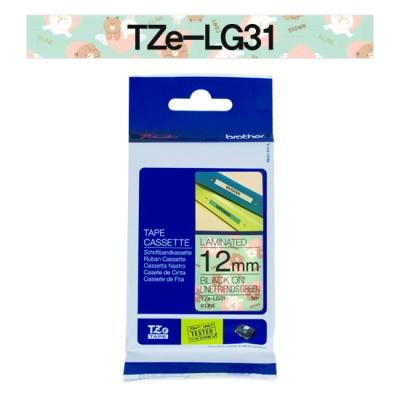 브라더정품 라벨테이프 TZe-LG31(12mm x 5M) (캐릭터 라인그린)