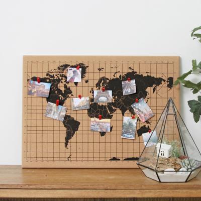 프레임 코르크 세계지도 월드맵+우드압정핀