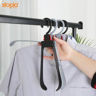 논슬립 원터치 접이식 옷걸이(고정형)