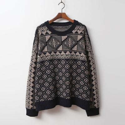 Lamswool Cross Round Sweater
