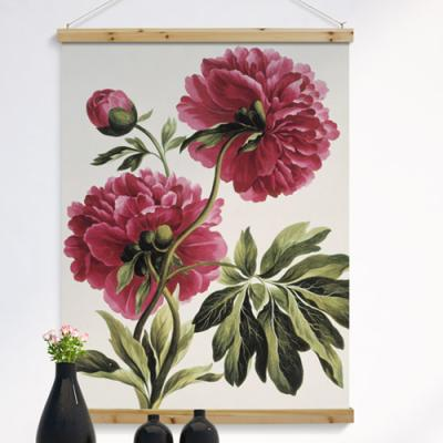 ie938-우드스크롤_90CmX120Cm-풍수에좋은꽃그림