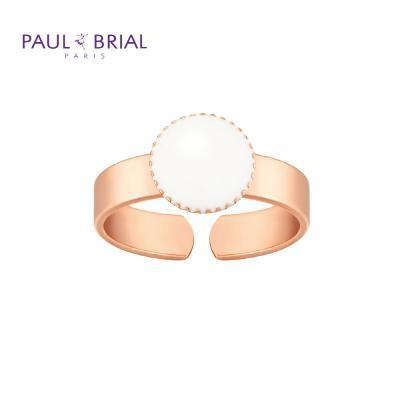 폴브리알 PYBR0104 (PG) 서클 밴드 반지 WHITE