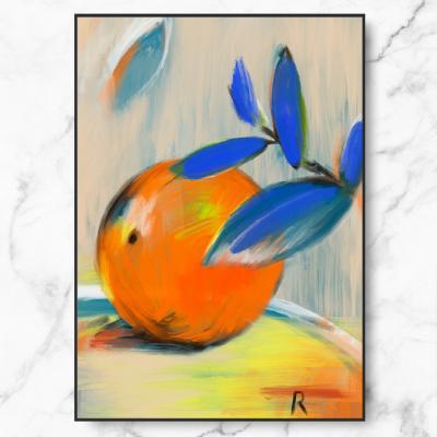 인테리어 액자 Orange Painting