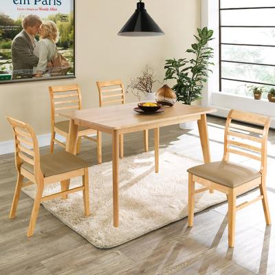 N405 4인 원목 식탁 세트(의자형) 1color