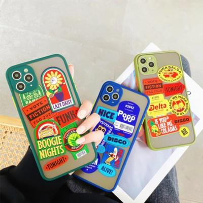 아이폰SE2 8 7 XR XS 카메라보호 펑키 반투명 케이스