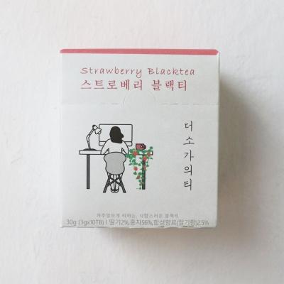 [스티커증정] 더소가 블렌딩홍차 스트로베리블랙티 10입