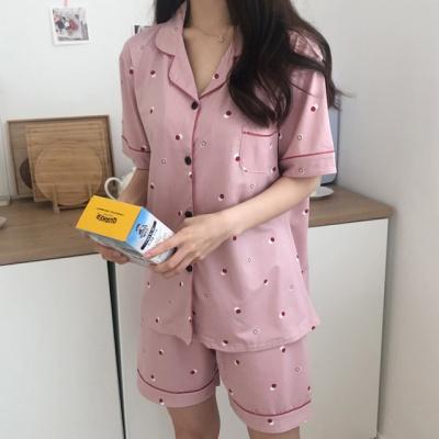 더블 도트 여름 잠옷 홈웨어