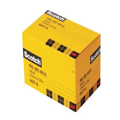 3M 스카치 투명 양면테이프 리필 665R-6 12mm