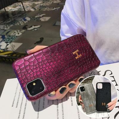 아이폰12 mini pro max 악어 가죽 유광 하드 폰케이스