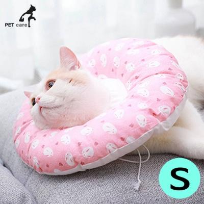 힐링타임 강아지 도넛 쿠션 넥카라 (핑크래빗) (S)