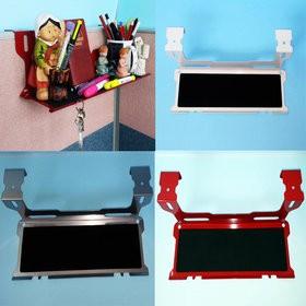파티션선반 일자형 광폭선반(두께45mm파티션용): 남과 다른 나만의 개성 있는 사무공간 창출 / 주문시 색상기재요망(Ivory,Red,Silver중 택일 배송요망사항이나 주문서 비고란에 기재요망)