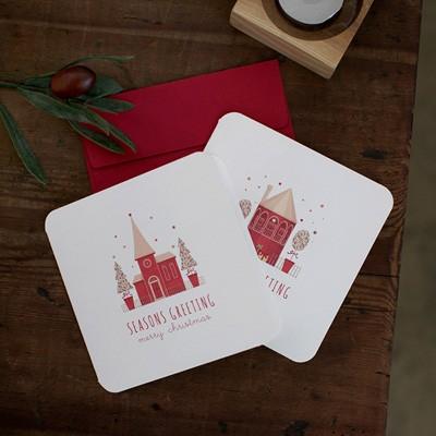 디비디 크리스마스 카드 세트 - Little Village