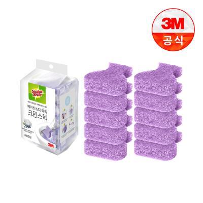 [3M]크린스틱 베이킹소다 변기청소 리필10입