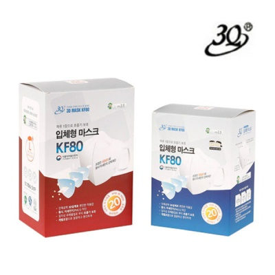 [3Q] 황사 미세먼지 차단용 마스크 KF80 20매 (대형 / 소형)