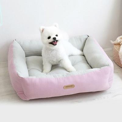 반려동물 강아지 팔레트 양면 베드 핑크 쿠션 하우스