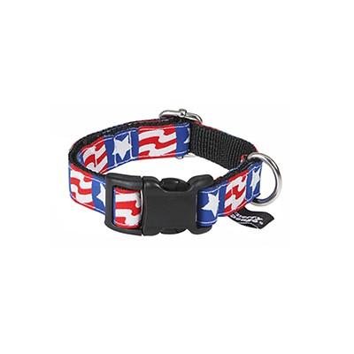 the American flag jacquard ribbon collar