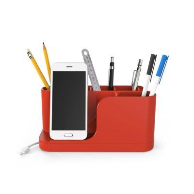 데스크 선정리기능 스마트폰수납 연필꽂이 펜정리함