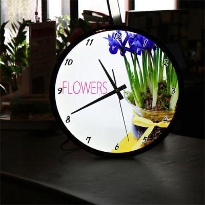 ng272-LED시계액자35R_화려한꽃