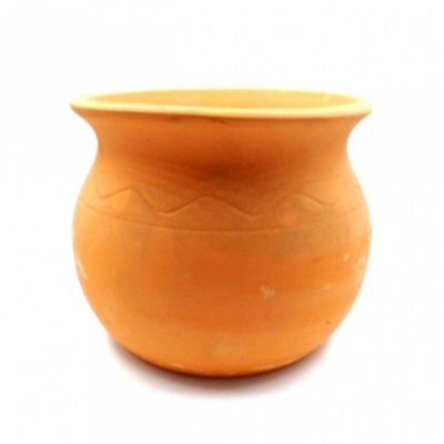황토빛 단지-중 17x14cm 토분(갈색화분)