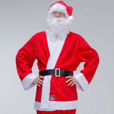 크리스마스 산타복 남자상의 3종 세트